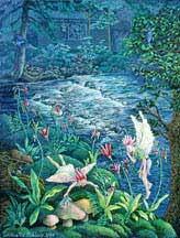 Painting-Shooting Star Faeries